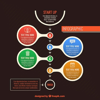 Colored start up infographic