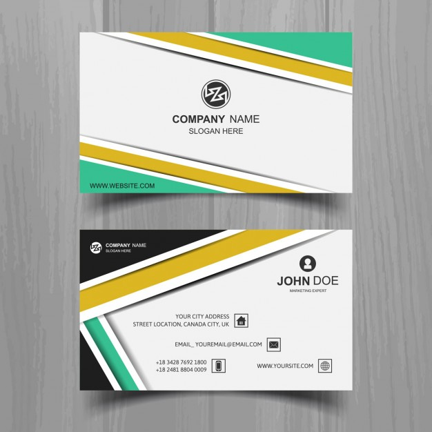 Colored stripes business card