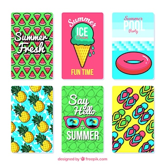Colored summer card pack