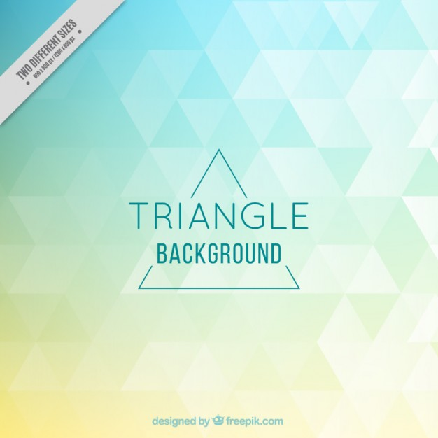 Colored triangles background