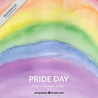 Colored watercolor stripes background