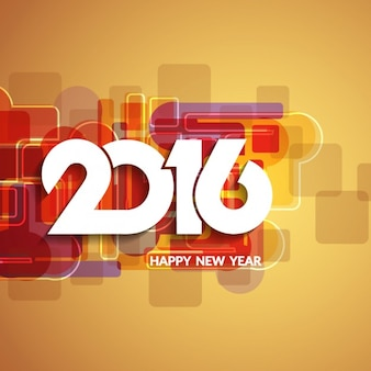 Colorful 2016 background in retro style