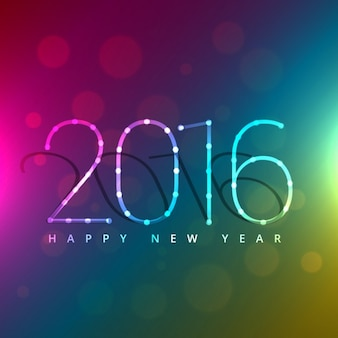 colorful 2016 new year greeting
