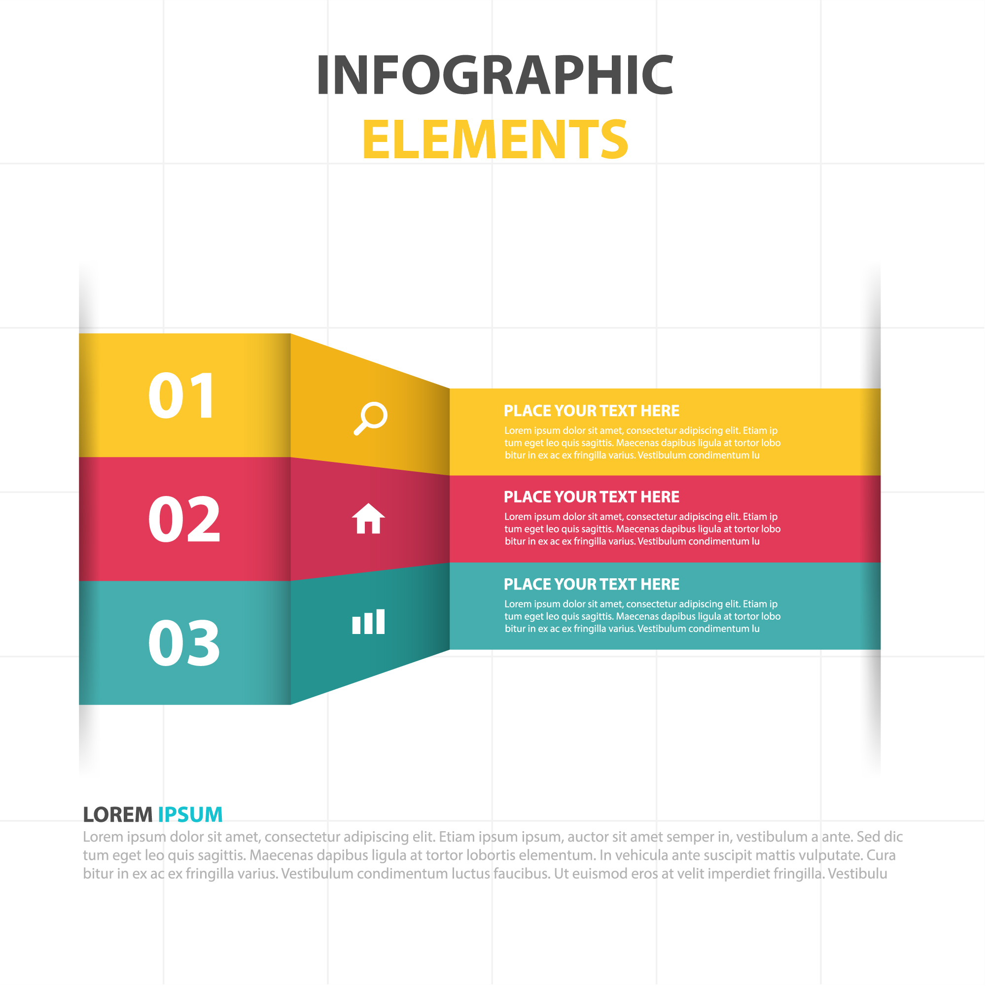 Colorful 3d infographic template