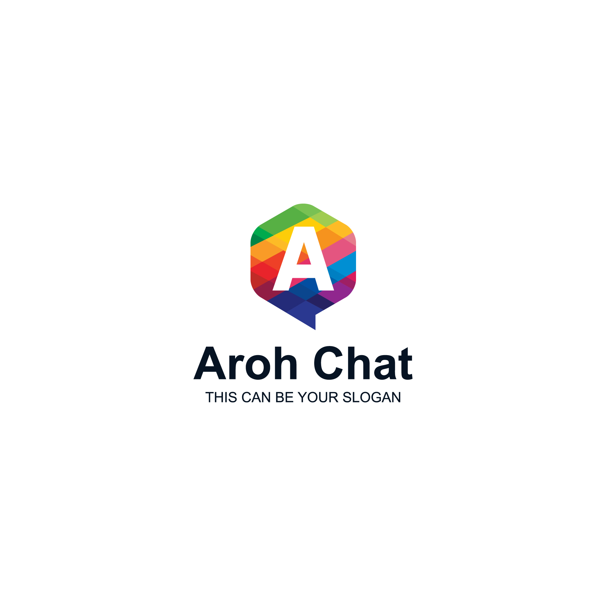 Colorful a letter logo in chat box