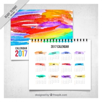 Colorful abstract 2017 calendar
