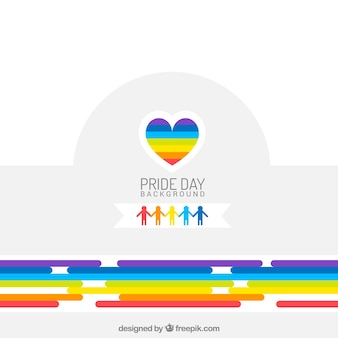 Colorful abstract background with pride day heart