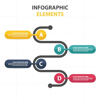 Colorful abstract business infographic template