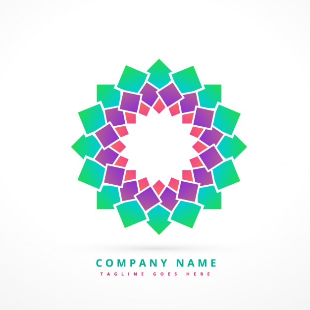 Colorful abstract company logo