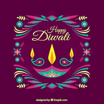 Colorful abstract Diwali background