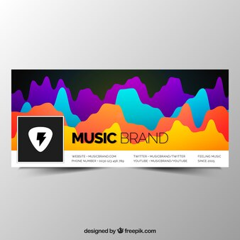 Colorful abstract facebook cover
