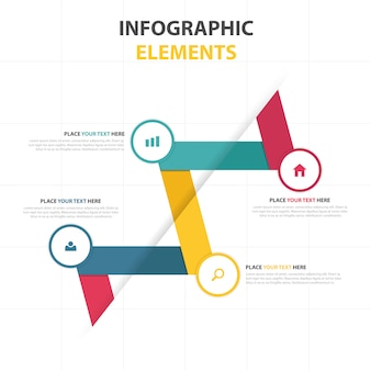 Colorful abstract infographic elements