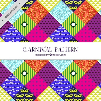 Colorful abstract pattern of carnival