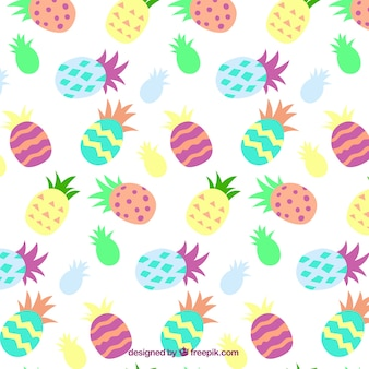 Colorful abstract pineapples pattern