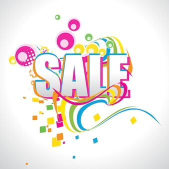 Colorful abstract sale design