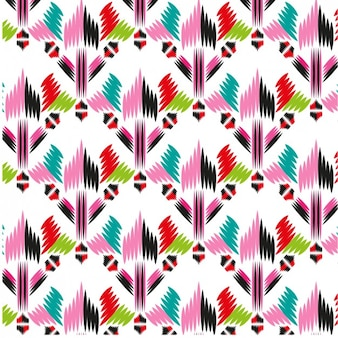 Colorful abstract shapes fabric pattern