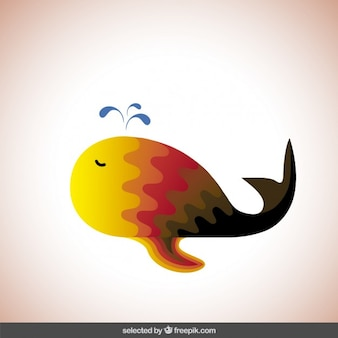 Colorful abstract whale