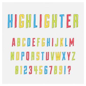Colorful alphabet design