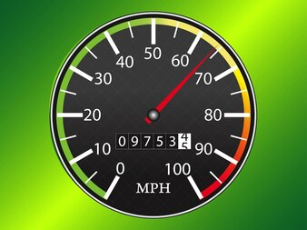 colorful analog speedometer in vector pack