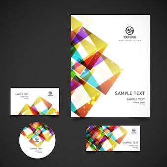 Colorful and shiny business stationery