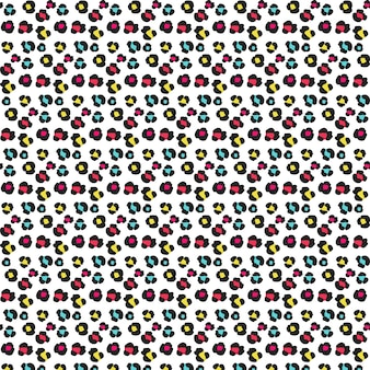 Colorful animal footprint pattern