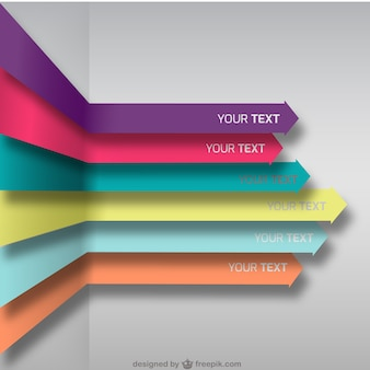 Colorful arrows background
