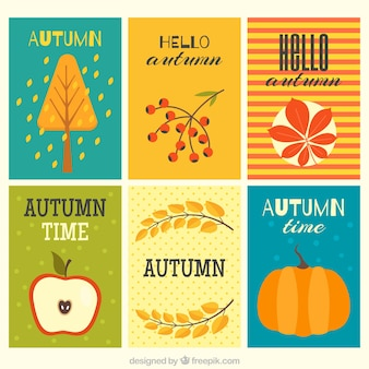 Colorful autumnal cards