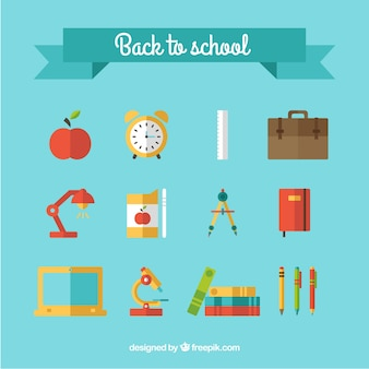 Colorful back to school icons