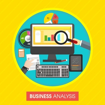Colorful background of business analysis