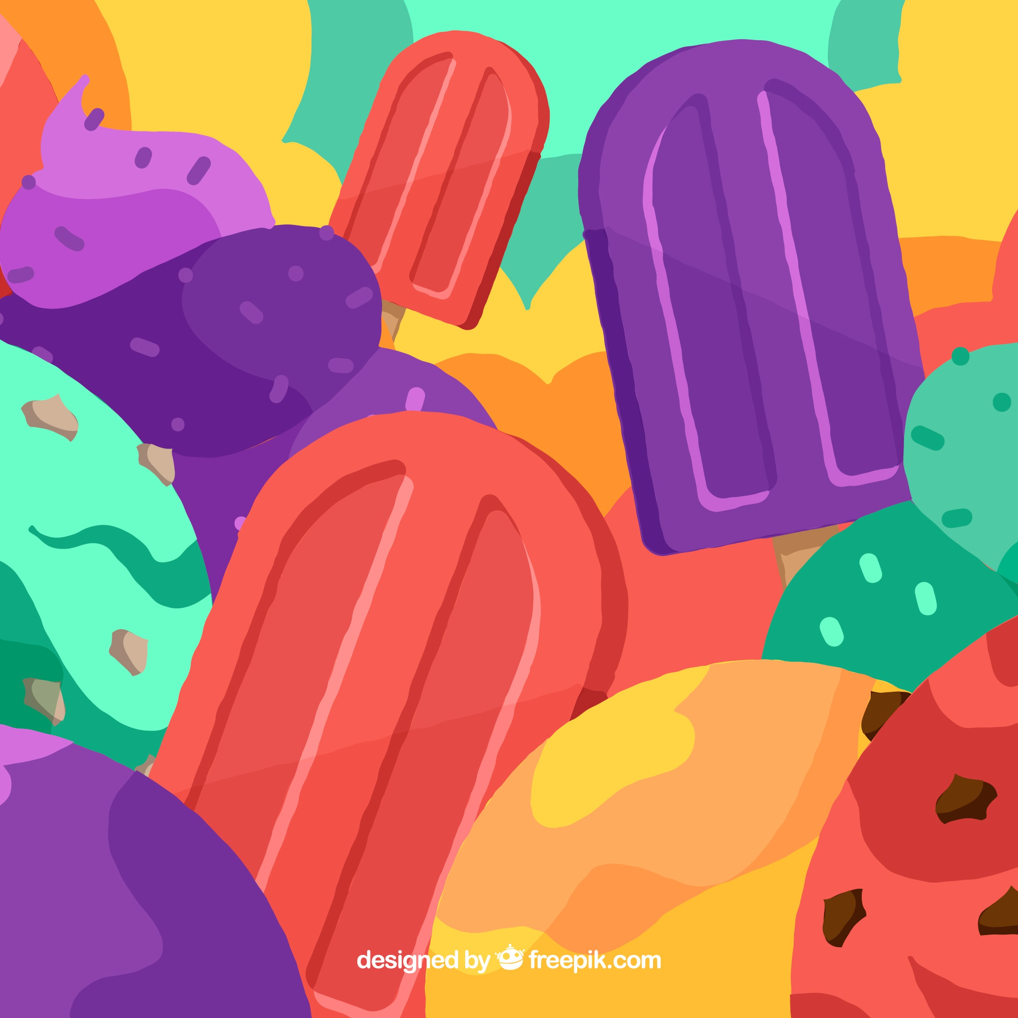 Colorful background of ice cream
