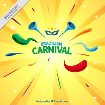 Colorful background with abstract shapes for brazilian carnival