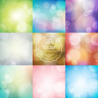Colorful background with bokeh effect