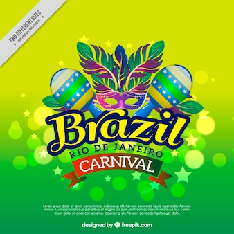 Colorful background with brazilian carnival maracas