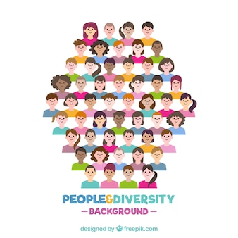 Colorful background with diversity of people
