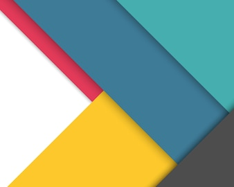 Colorful background with flat geometric shapes