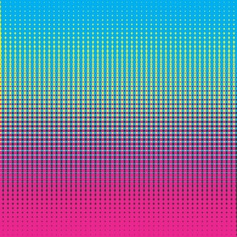 Colorful background with halftone dots