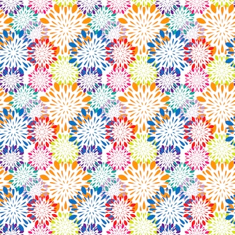 Colorful background with mandalas pattern