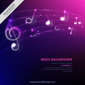 Colorful background with musical notes
