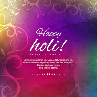 Colorful background with ornaments for holi