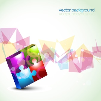 Colorful background with puzzle
