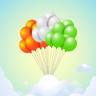 Colorful balloons background for republic day of india