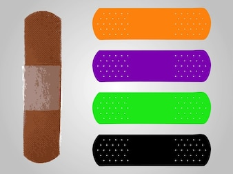 Colorful band aid protection bandage