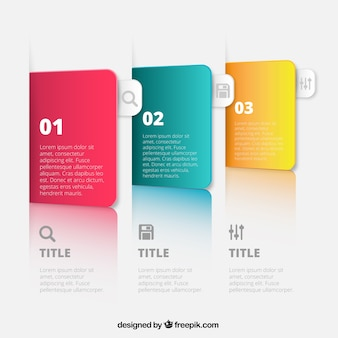Colorful banners for infographic