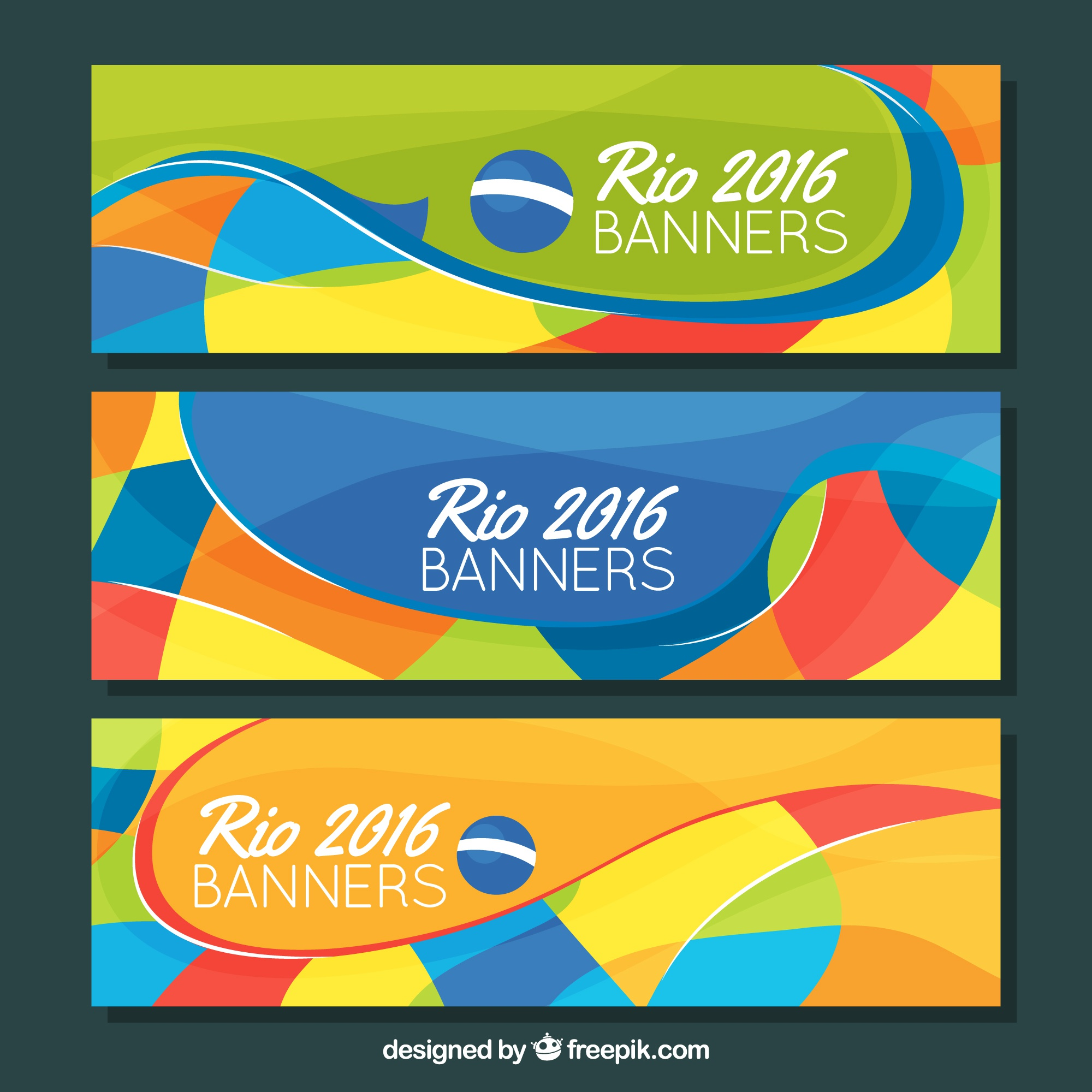Colorful banners of brazil