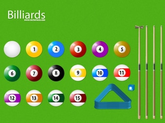Colorful Billiards With Glossy Balls