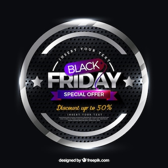 Colorful black friday background