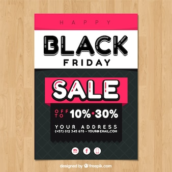 Colorful black friday poster template