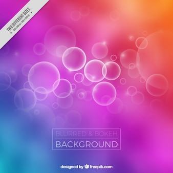 Colorful blurred background with bokeh effect