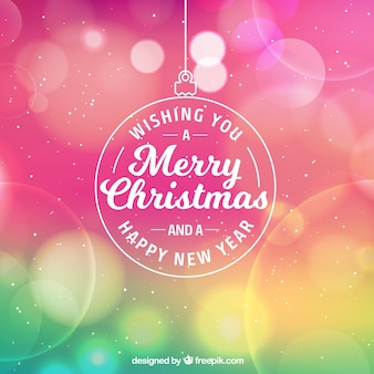 Colorful bokeh christmas background