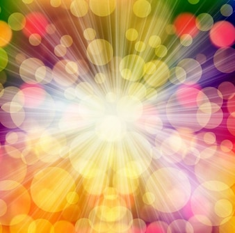 Colorful bokeh with burst background